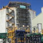Echafaudage pour un bac de stockage dans l'industrie chimique